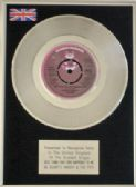 "GLADYS KNIGHT & THE PIPS -7"" Platinum Disc- BEST THING THAT EVER HAPPENED TO ME"